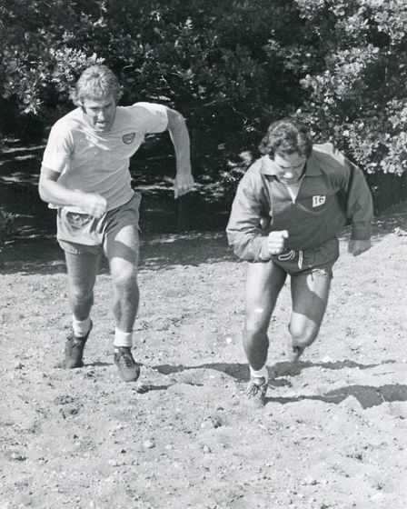 Duncan Forbes training alongside in Colin Sullivan Picture: Archant Library