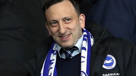 Brighton owner Tony Bloom made his fortune in poker Picture: Andrew Matthews/PA