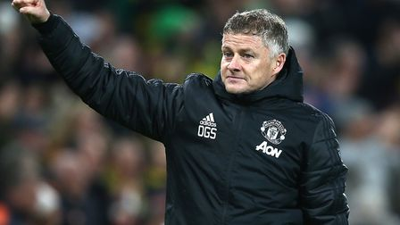 Manchester United manager Ole Gunnar Solskjaer salutes the travelling support Picture: Paul Chester