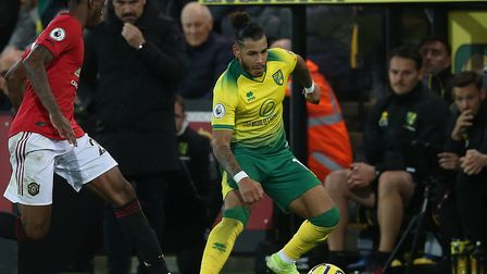 Onel Hernandez was introduced straight after half-time during Norwich City's home loss to manchester