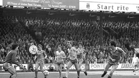 NCFC v Brighton on Saturday 14th May 1983 - John Deehan in action Picture: Archant Library