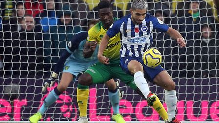 Alex Tettey was pulled back into central defence against Brighton but couldn't stop City slipping to