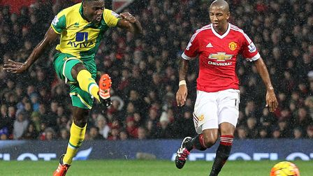 Alex Tettey sealed a first Old Trafford win for Norwich City in 26 years Picture: Paul Chesterton/Fo