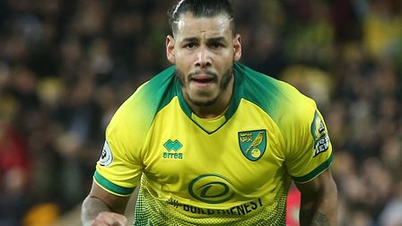 Onel Hernandez provided same late hope after scoring for Norwich City against Manchester United Pict
