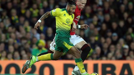 Scott McTominay was robbed by Onel Hernandez for Norwich City's consolation goal against United Pict