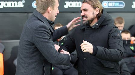 Graham Potter Brighton take on Daniel Farke's side in the Premier League this weekend Picture: Paul