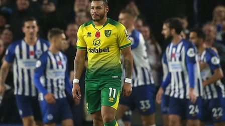 Onel Hernandez made a late night dash to play for Norwich City at Brighton Picture: Paul Chesterton/