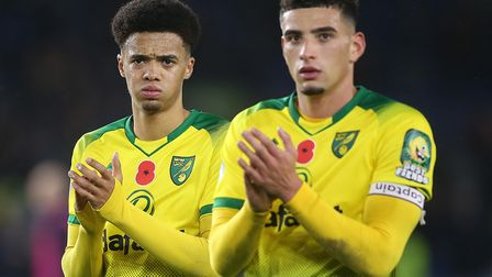 The faces of Jamal Lewis, left, and Ben Godfrey told the story after Norwich City's loss at Brighton