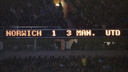 The scoreboard says it all Picture: Archant Library