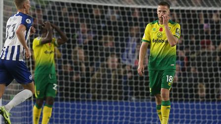 Marco Stiepermann gathers his thoughts after Brighton's opener against the Canaries Picture: Paul Ch