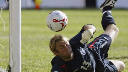 Robert Green earned an England cap against Colombia when he was a Norwich player, in 2005 Picture: A