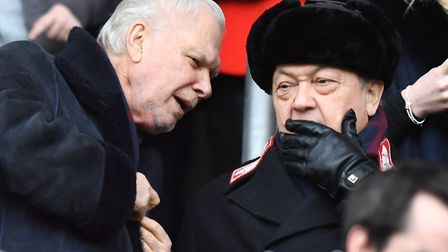 West Ham United co-owners David Sullivan, right, and David Gold Picture: Anthony Devlin/PA