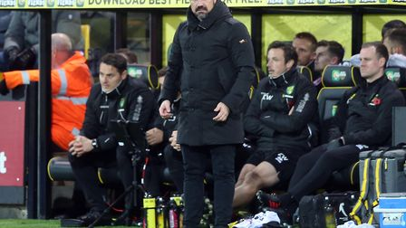 Daniel Farke hinted at a potential change of formation in his pre-match press conference Picture: Pa