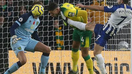 Ben Godfrey has been in the thick of the Premier League action for Norwich City Picture: Paul Cheste