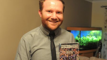 Tom Stansfield is the Norwich City researcher for Football Manager Picture: Tony Thrussell