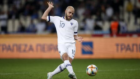 Teemu Pukki has been in superb form for Finland in their Euro 2020 campaign. Picture: PA