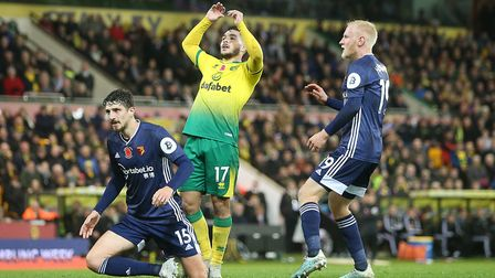 Emi Buendia rues a missed chance against Watford - it wasn't his worst error of the night Picture: P