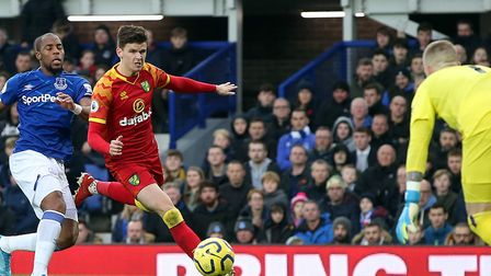 Sam Byram offered an attacking threat from left-back during City's win at Everton Picture: Paul Ches
