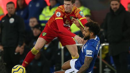 Sam Byram dealt with the pace of Everton winger Theo Walcott well as he took over at left-back for N