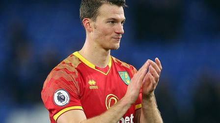 Christoph Zimmermann applauds the traveling support at the end of the match at Goodison Park. Pictur