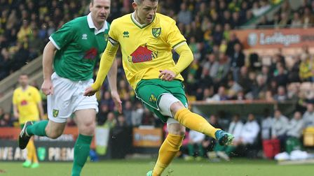Jamie Cureton was back in action at Carrow Road in May, playing in a legends game celebrating the ca