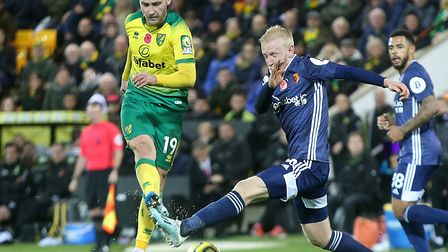Tom Trybull has started six of Norwich City's 12 games in the Premier League so far this season Pict