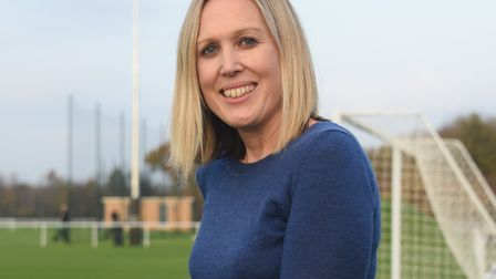 Norwich City's business and project director Zoe Ward, pictured at the Lotus Training Centre at Coln