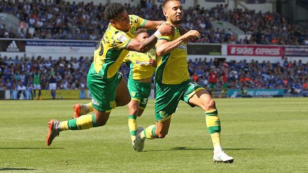 Mo Leitner celebrates scoring his equaliser at Ipswich Town last season. Picture: Paul Chesterton/Fo
