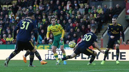 Cantwell slotted the ball beautifully past Arsenal keeper Bernd Leno to restore the Canaries advanta