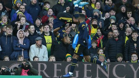 Pierre-Emerick Aubameyang celebrates after equalising for Arsenal following a key intervention by VA