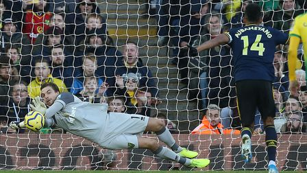 Tim Krul's penalty save counted for nothing when Pierre-Emerick Aubameyang slotted the re-take for A