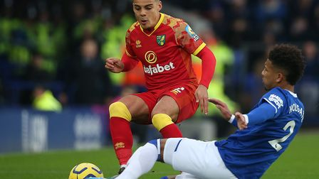 Max Aarons in action during Norwich City's win at EvertonPicture: Paul Chesterton/Focus Images