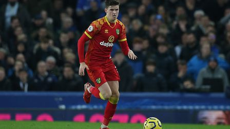 Sam Byram impressed during Norwich City's win at Goodison Park as a left-back. Picture: Paul Chester