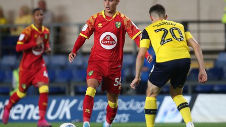 Josh Martin, pictured in EFL Trophy action at Oxford for City's U23s earlier this season, could be a