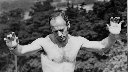 Ron Saunders during one of his famed training sessions on Mousehold Heath Picture: Archant