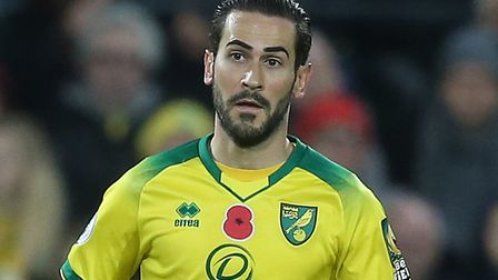Mario Vrancic starts his first Premier League game for Norwich City Picture: Paul Chesterton/Focus I