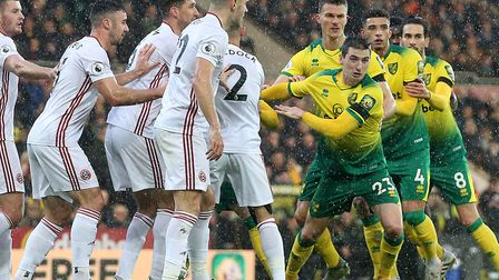 Norwich City came up short against Sheffield United in a 2-1 Premier League home defeat. Picture: Pa