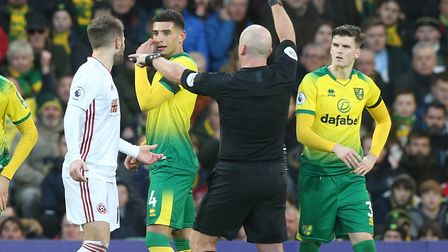 Norwich City's Premier League clash against Sheffield United was interrupted by VAR on several occas