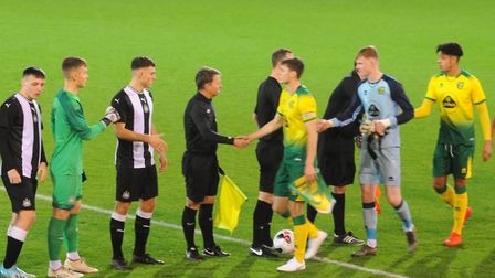 Action from Norwich City Under-18s' FA Youth Cup thirdround tie against Newcastle at Carrow Road Pic