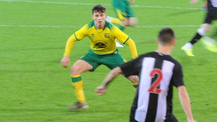 Action from Norwich City Under-18s' FA Youth Cup thirdround tie against Newcastle at Carrow Road - D
