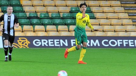 Norwich City U18 defender Andrew Omobamidele during the FA Youth Cup win over Newcastle at Carrow Ro