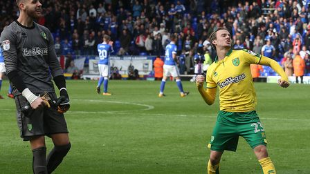 Angus Gunn and James Maddison on the same side for Norwich City Picture: Paul Chesterton/Focus Image