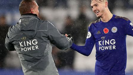 Brendan Rodgers has hailed Leicester City midfielder James Maddison Picture: Nick Potts/PA
