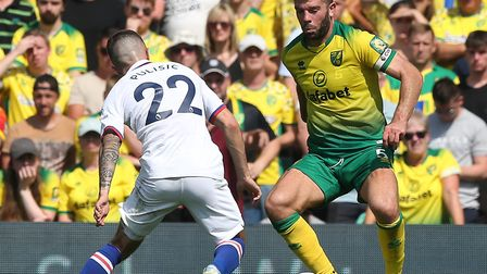 Grant Hanley is back in training for Norwich City after injury Picture: Paul Chesterton/Focus Images