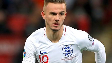 Former Canaries star James Maddison earned his first senior England cap in november Picture: Mike Eg
