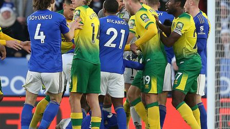 Daniel Farke admitted he was as upset as his Norwich City players after a first half melee in the 1-