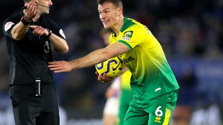 Norwich City's Christoph Zimmermann reacts to a decision during the Premier League match at King Pow