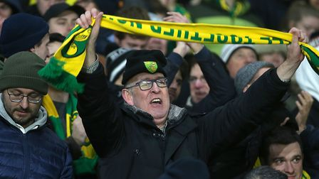 Norwich City's large travelling support liked what they saw at Leicester City Picture: Paul Chestert