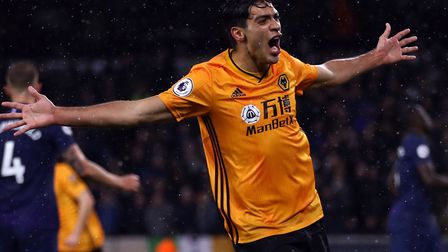 Raul Jimenez is a dangerman for Wolves Picture: Tim Goode/PA Wire