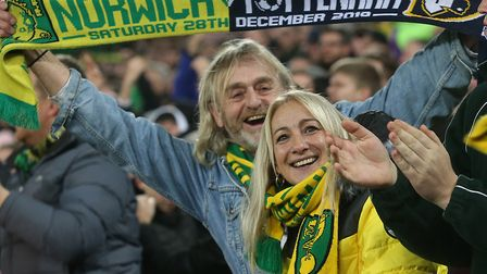 Norwich City fans had an eventful end to 2019 in a 2-2 Premier League draw against Tottenham Picture